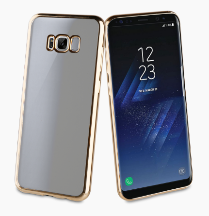 Muvit Bling Case для Samsung Galaxy S8 Plus G955FD с золотой рамкой