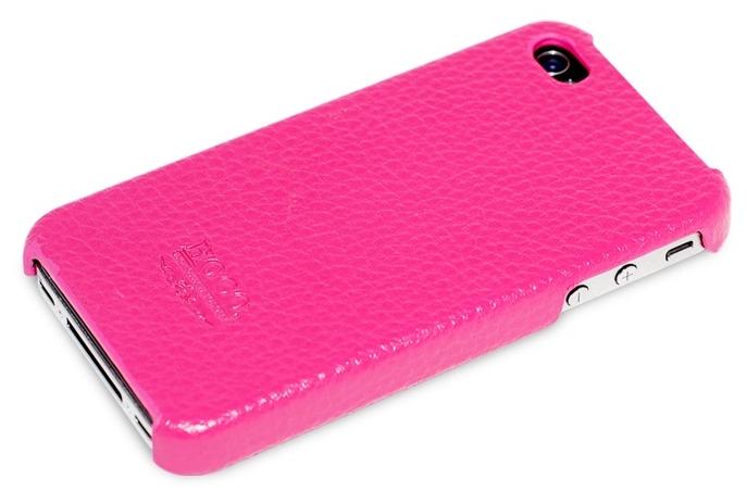 Hoco для iPhone 4 / 4s кожаная pink