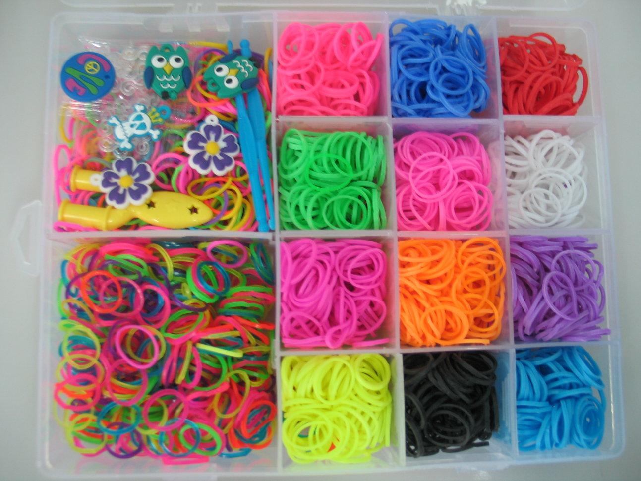 Резинки для плетения браслетов набор цена