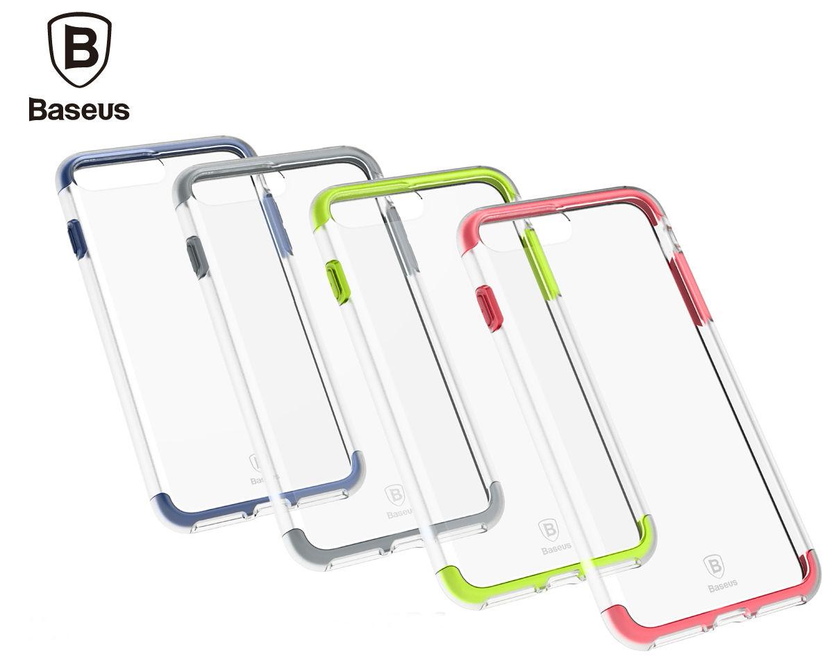 Baseus Armor Case TPU+TPE для Iphone 7 Plus Transparent/White