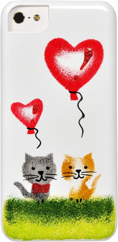 iCover для Samsung Galaxy S5 G900 Cats Hand Printing 03
