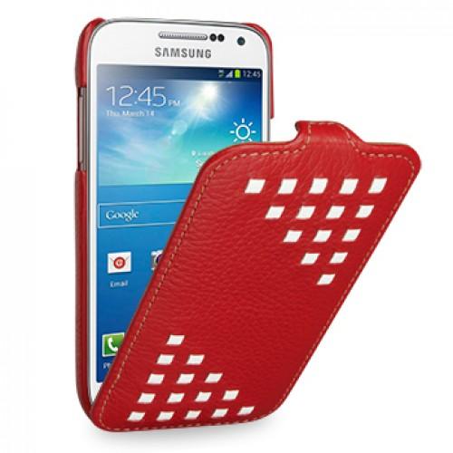 TETDED Premium Leather Case для Samsung Galaxy S4 / IV / I9500 / I9505 / Active I9295 i537 Troyes Weave: Red022