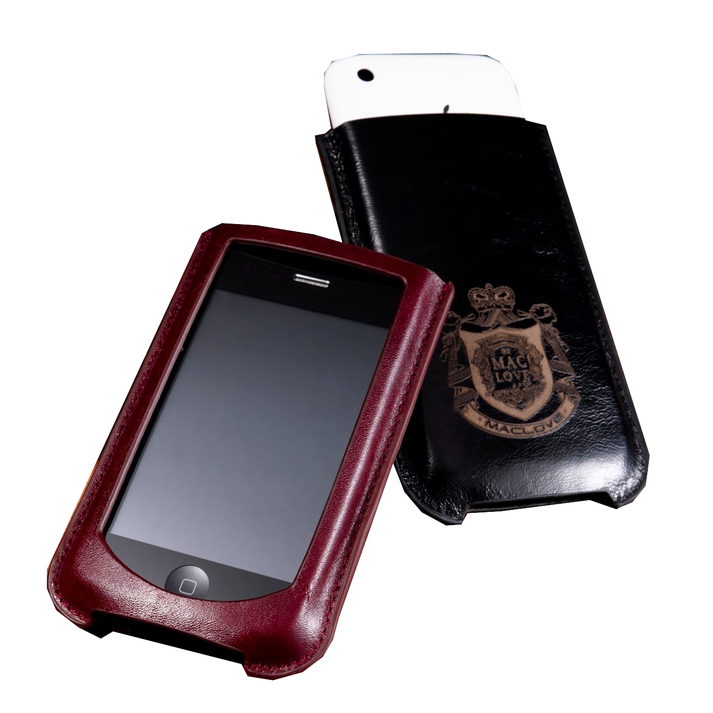 для Iphone 4 MacLove Leather Case Lucca Black for iPhone 4