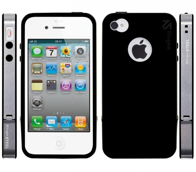 Ringke STEEL quot; quot; для Apple iPhone 4/4S с металлическим хомутом Black