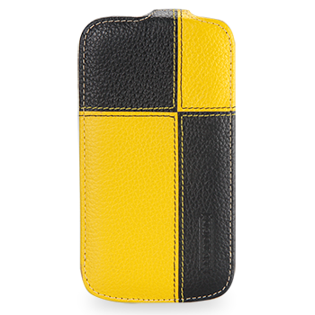 TETDED Premium Leather Case для Samsung Galaxy S4 / IV / I9500 / I9505 / Active I9295 i537 Troyes Plutus: Yellow/Black