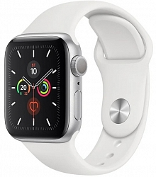 Смарт-часы Apple Watch Series 5 GPS 40mm (MWV62)  Silver Aluminum Case with White Sport Band