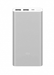 Аккумулятор внешний Xiaomi Mi Power Bank 3 10000 mAh Type-c + 2USB Fast Charge PLM13ZM Silver