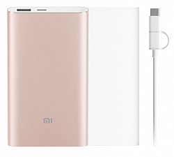 Аккумулятор внешний Xiaomi Mi Power Bank Pro 10000 mAh Type-C Kit Gold