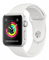 Смарт-часы Apple Watch Series 3 38mm MTEY2 Aluminum Case with White Sport Band