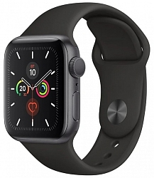 Смарт-часы Apple Watch Series 5 GPS 40mm (MWV82) Space Gray Aluminum Case with Black Sport Band
